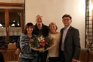 seit dem 1. Tag im Verein 60-jähriges Jubiläum: Erika Heider, Georg Neudecker, Maria Paulowitsch, Helmut Sperr